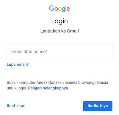 lupa kata sandi gmail android