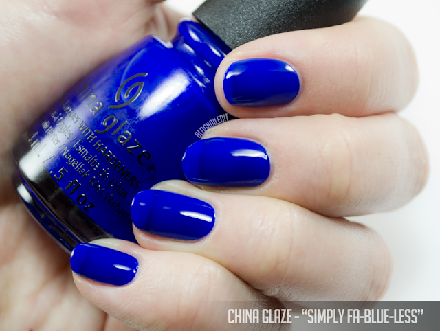 China Glaze - Simply Fa-Blue-Less