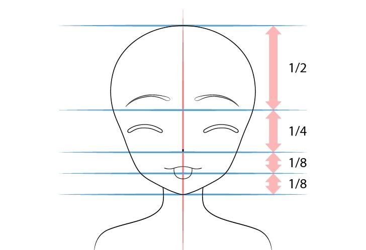 Gadis anime lidah keluar menggoda proporsi gambar wajah