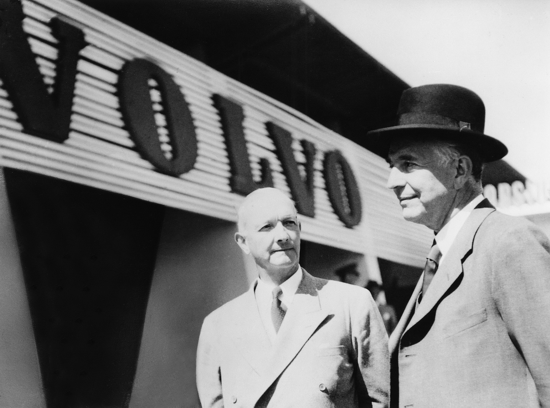 The founders of Volvo: Gustaf Larson and Assar Gabrielsson