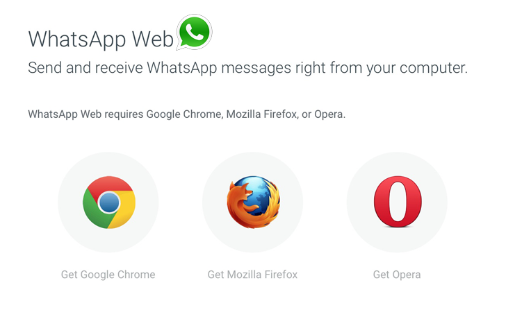WhatsApp Web Client Now Available on Firefox and Opera Browsers