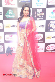 Actress Reshma Rathore Pictures in Lehenga Choli at Mirchi Music Awards South 2015  0022