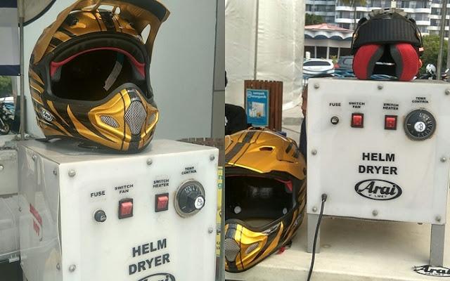 Alat Khusus Pengering Helm