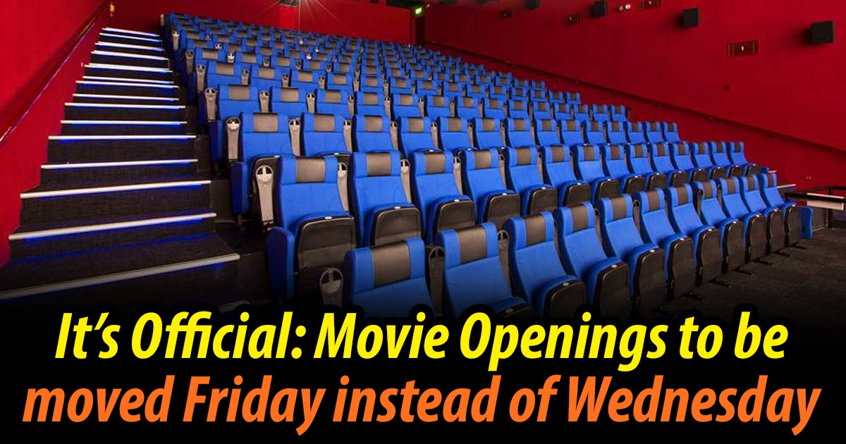 It's Official: Movie Openings to be Moved Friday instead of Wednesday