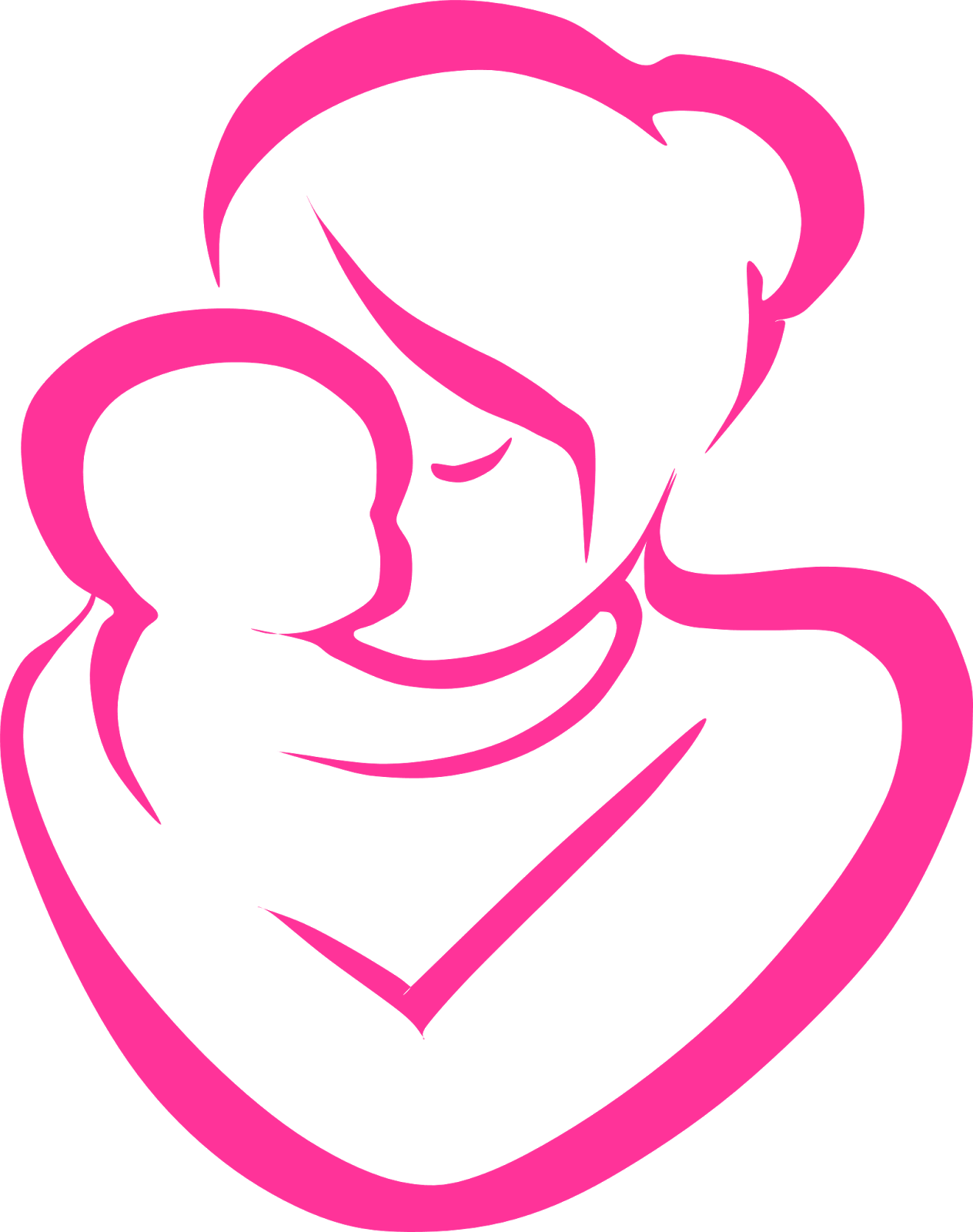 free clip art mother child - photo #36