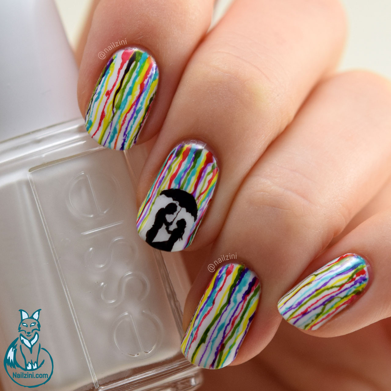 Romantic Rainbow Rain Nail Art | Nailzini: A Nail Art Blog