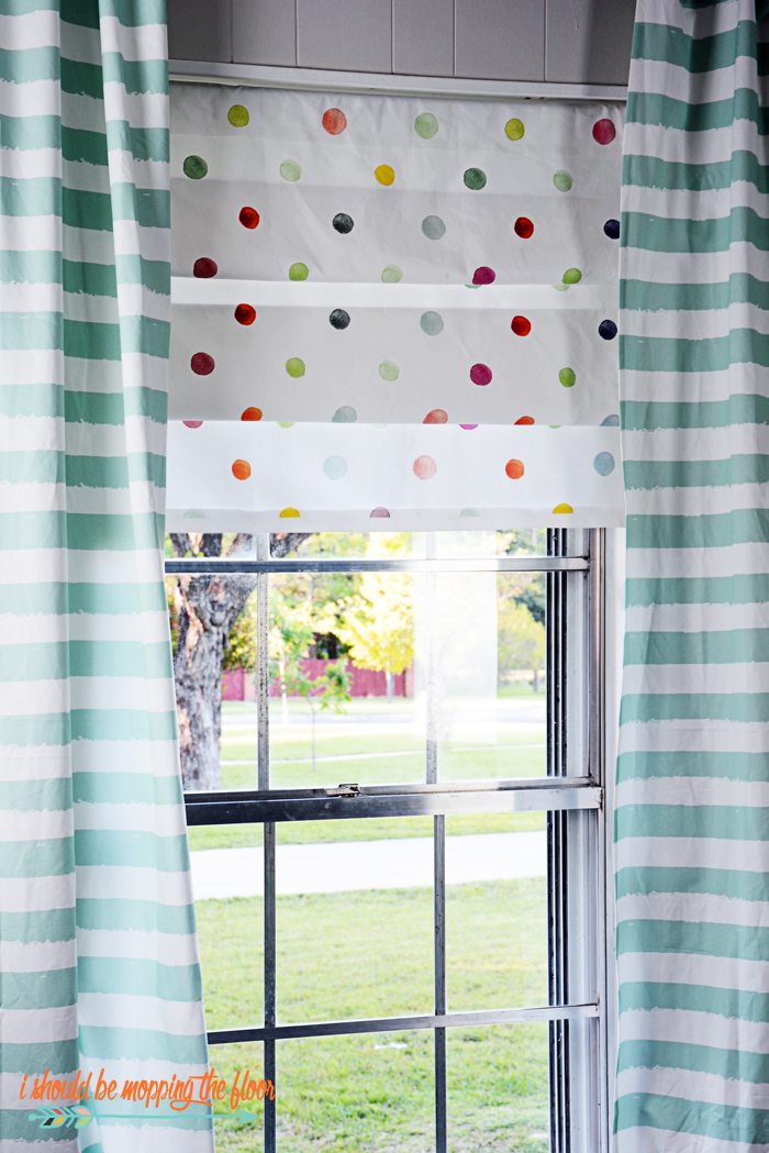 "How to Create Faux Roman Shades | Step-by-step photo tutorial on creating faux roman shades...can even be made in the ""no-sew"" variety!"