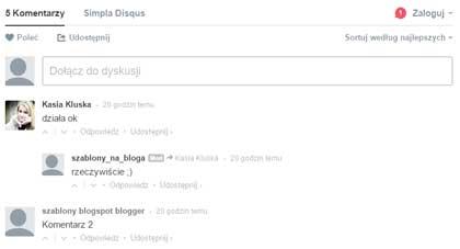 Komentarze na blogu Disqusem po polsku