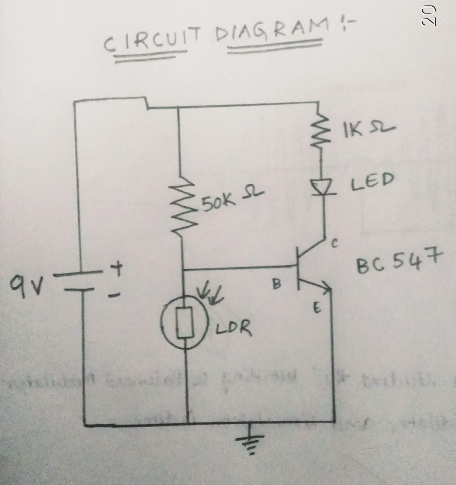 Nutank Circuit Diagram Ldr For Using In Automatic Street Light System