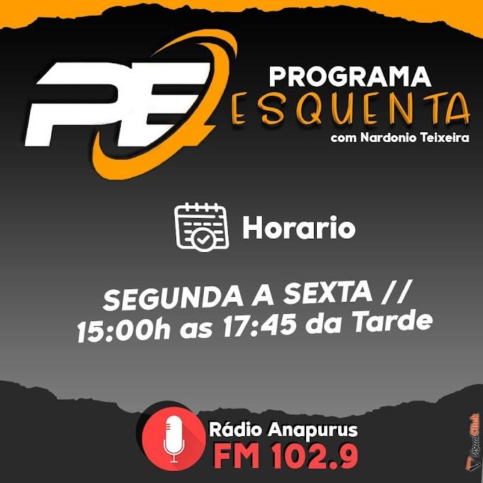 Curta Programa Esquenta com Nardonio Teixeira de segunda a sexta na Rádio Anapurus  FM 102.9.