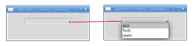 Manually Show items in Combobox Tkinter