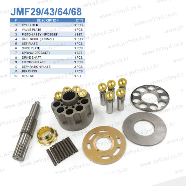 JMF29 JMF43 JMF64 JMF68 SWING MOTOR PARTS