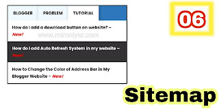 How do I create a sitemap for Blogger?