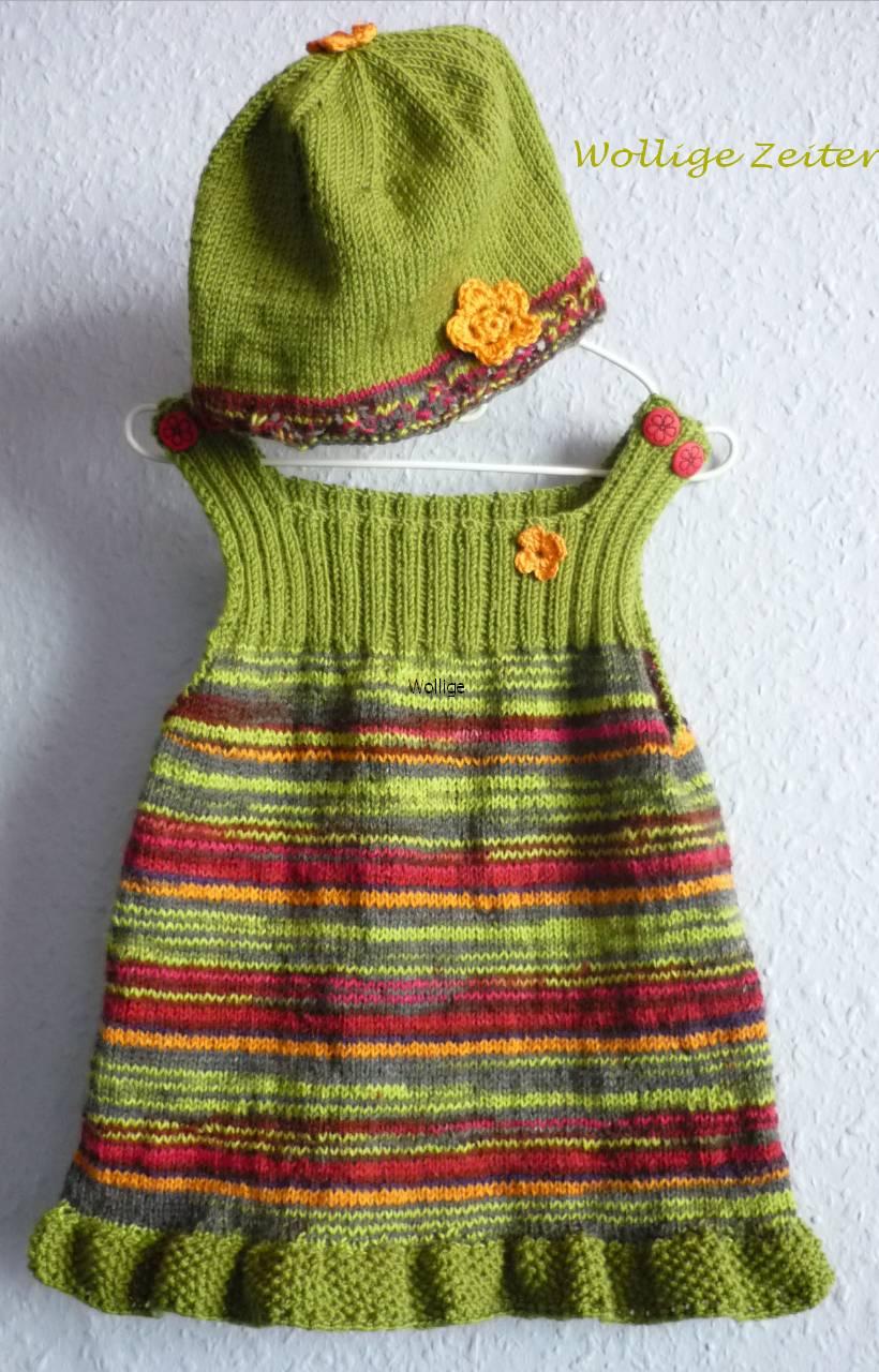 Colorful Baby Kleid Strickmuster Gallery - Decke Stricken Muster ...