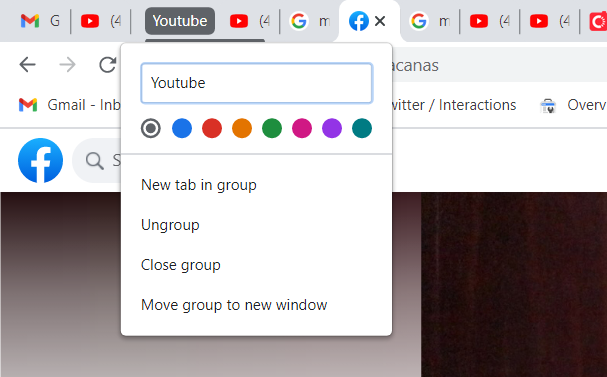 Google Chrome Group Tab