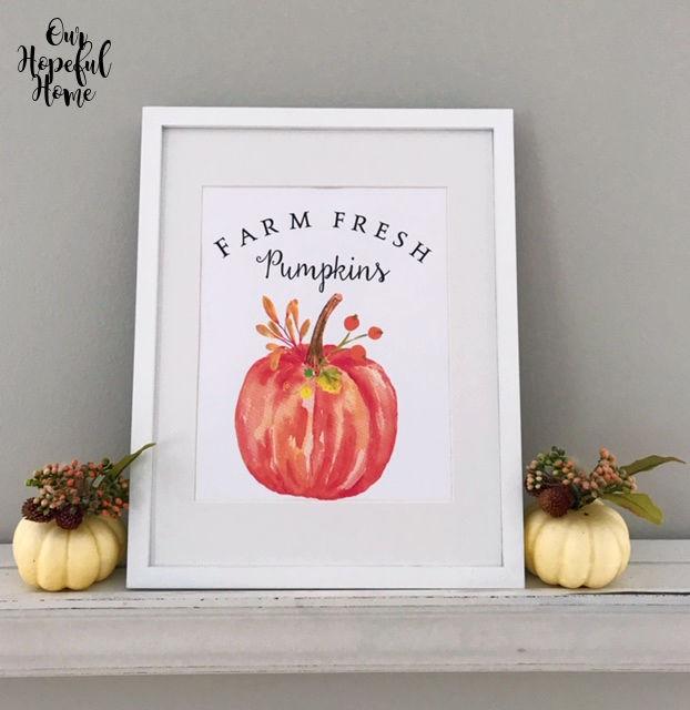 fall printable decor pumpkins