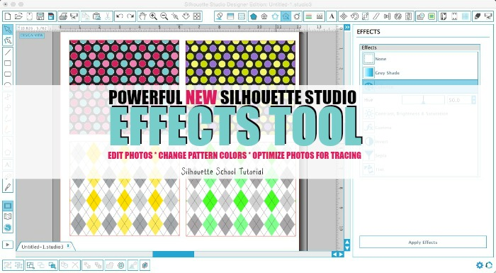 New Silhouette Studio V3 'Shader Effects' Tool Tutorial