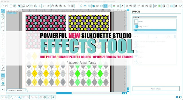 Silhouette Studio, shader effect, Silhouette tutorial