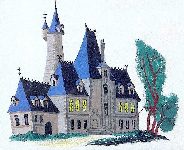 Retta Scott Worcester, an illustration of an estate home exterior