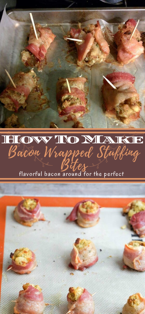 Bacon Wrapped Stuffing Bites #healthyfood #dietketo #breakfast #food