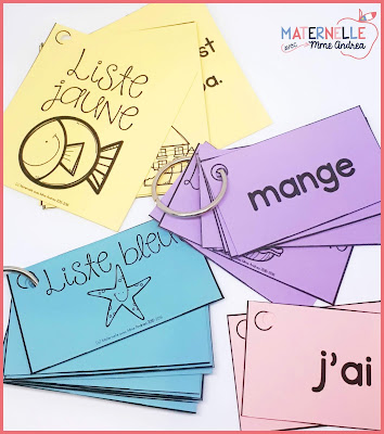 French sight word flash cards - your French students will master 90 mots fréquents in isolation AND in context as they work their way through the rainbow!