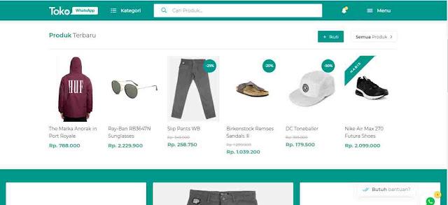Toko Whatsapp - template toko online berbasis blogger
