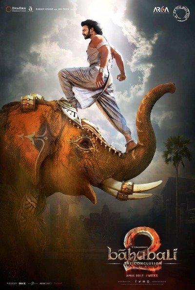 Poster of Baahubali 2 The Conclusion 2017 Hindi Dubbed 720p HQ BluRay ESubs Download