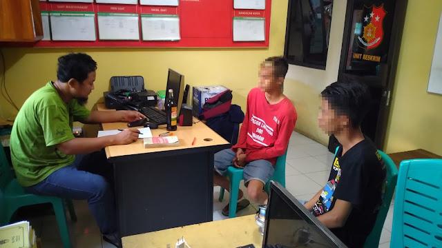Bikin Resah, Dua Pemuda Mabuk Diamankan Polisi Polsek Padamara