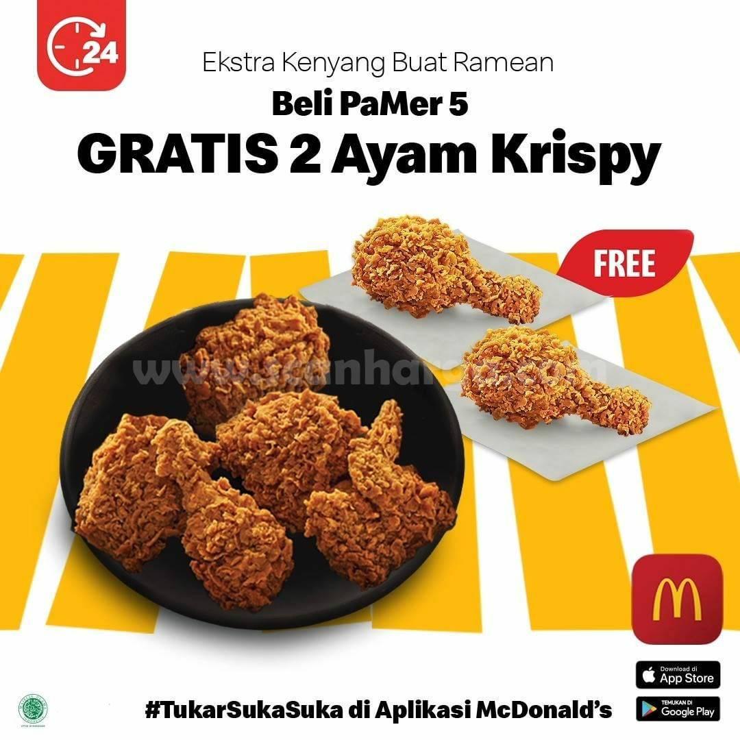 McDonalds Promo Beli PAMER 5 GRATIS 2 Ayam Krispy