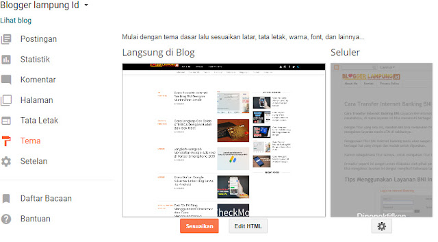 mengganti template blogger