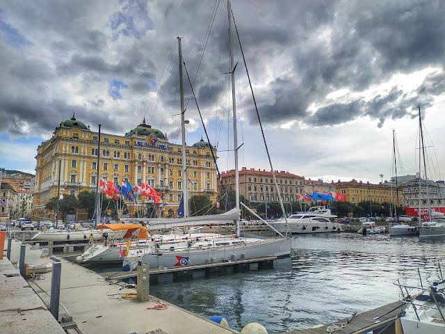 port Rijeka, miasto, Chorwacja, zwiedzanie, jachty