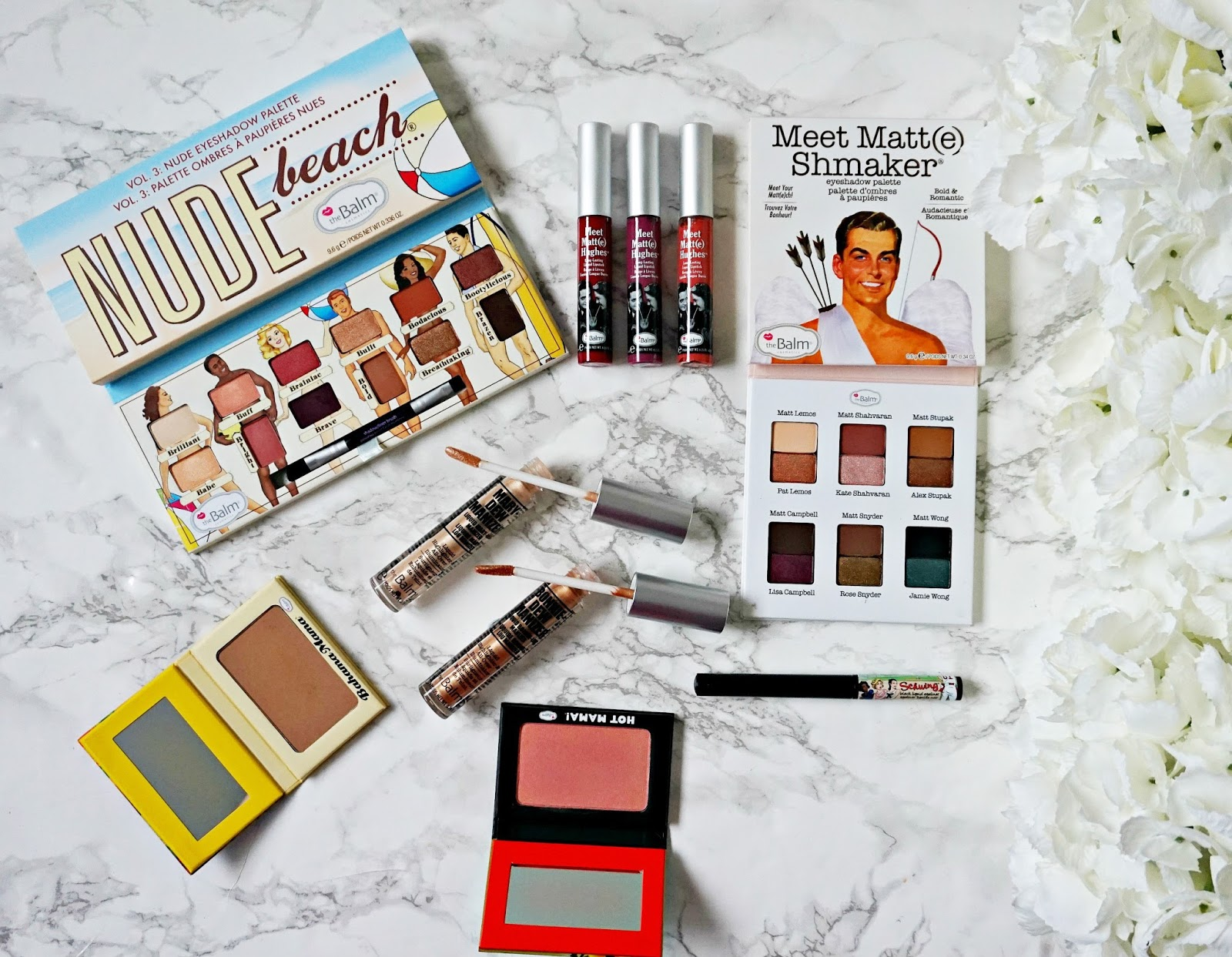 theBalm brand overview, theBalm Nude Beach Palette Review, theBalm Mary-Dew Manizer Review