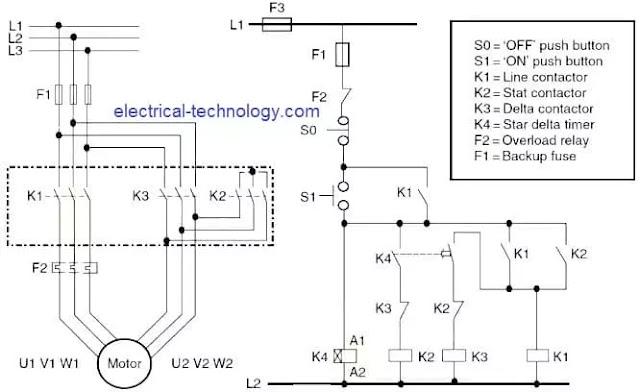 star-delta starter control circuit