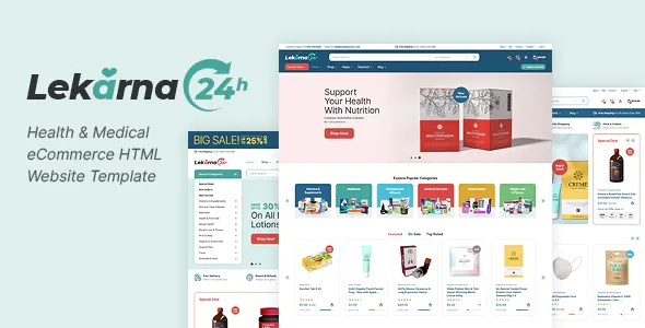 Best Health & Medical eCommerce HTML Website Template