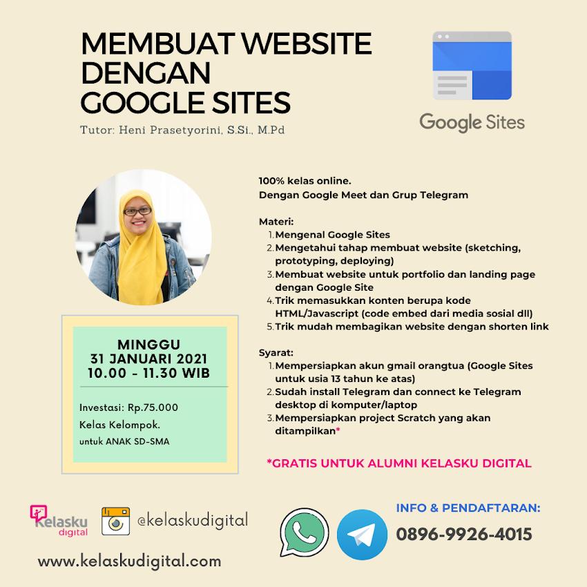 Kelas Membuat Website Dengan Google Sites