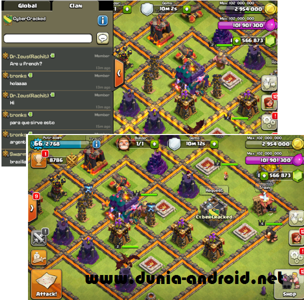 Clash Of Clans Mod / Hack v8.332.16 Apk Update Terbaru