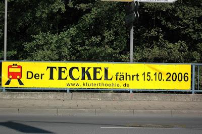 Werbebanner Sonderfahrt Teckel