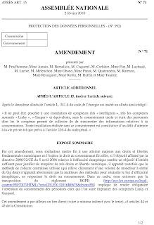 Amendement de la France insoumise rejeté par l'assemblée page 1