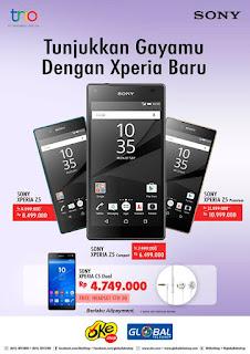 Harga Spesial SONY Xperia dan Promo Free Headset Hingga 31 Maret 2016