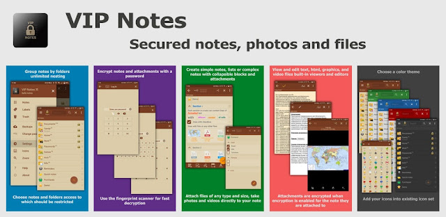 تنزيل تطبيق VIP Notes - notepad with encryption text and files لتشفير الملاحظات و و ملفاتك الحساسة لنظام الاندرويد