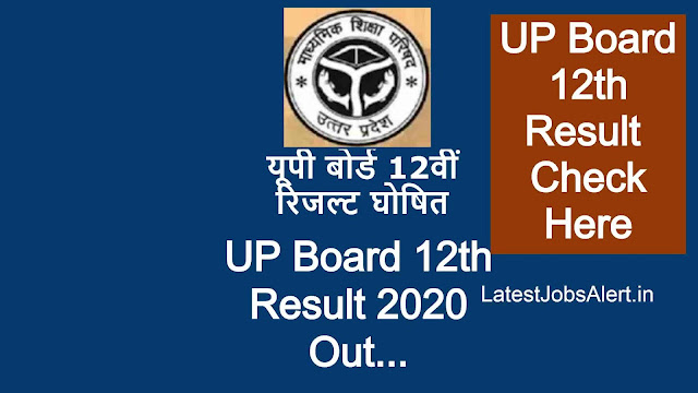 UP Board 10th Result Out 2020