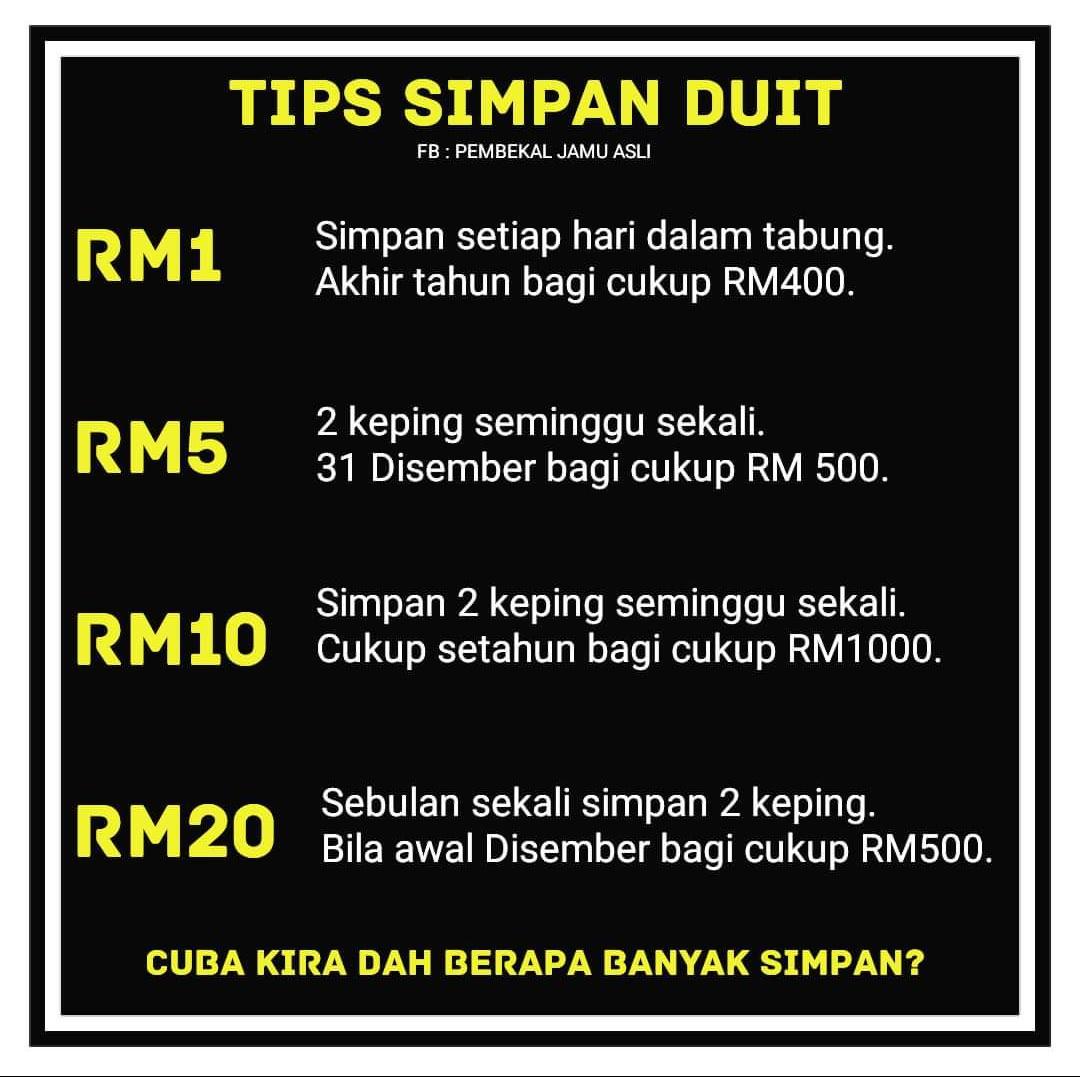 Tips cara SURIRUMAH simpan duit