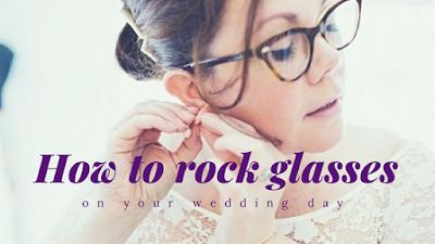 If glasses are a big part of your look, don't ditch them when it comes to your wedding day -Wedding Soiree Blog by K'Mich, Philadelphia's premier resource for wedding planning and inspiration - soiree wedding  - glasses