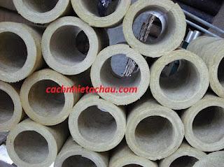 Ống bông khoáng Rockwool bọc đường ống nóng, không bén lửa, cách nhiệt tốt  Ong%2BRock13