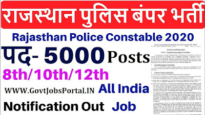 Rajasthan Police Constable Vacancy 2019