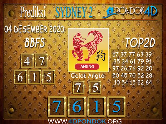 Prediksi Togel SYDNEY2 PONDOK4D 04 DESEMBER 2020