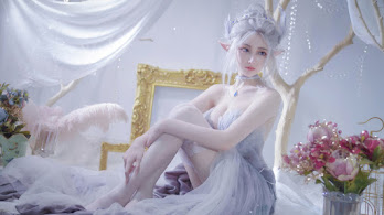 Ghosblade, Beautiful, Fantasy, Girl, Cosplay, 4K, #6.2631
