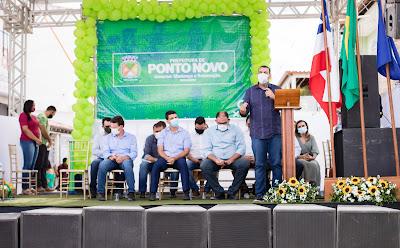 Júnior Nascimento na Inauguração da nova sede do CRAS Ponto Novo - Foto: Romilson Almeida