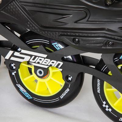 Base de 3 rodas para patinação sobre rodas de velocidade