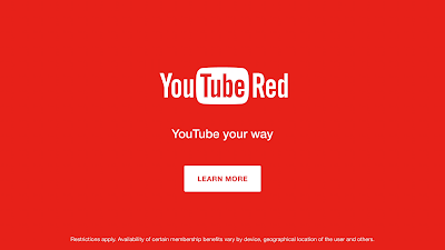 YouTube Red, the new subscription based and ad-free service by YouTube